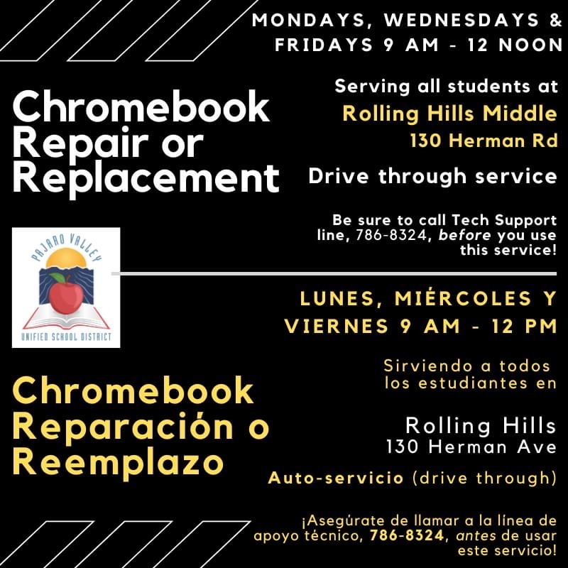 Chromebook repair and replacement updated flyer